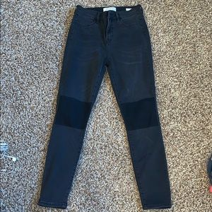 Black pacsun jeans with black knee patches!!